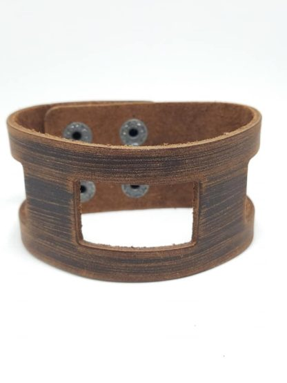 Leather Snap Brown