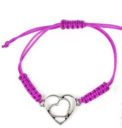 Purple Urban Heart Bracelet