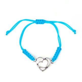 Blue Urban Heart Bracelet