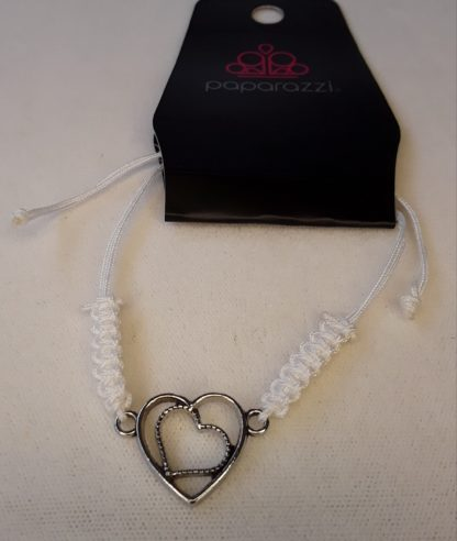 White Urban Heart Bracelet