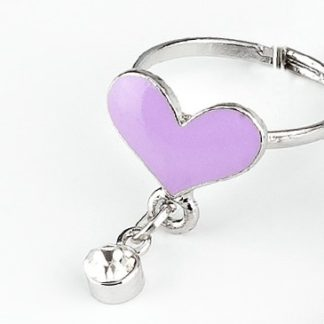 Purple Bling Heart Ring