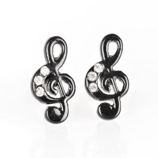 Music Note Post Black