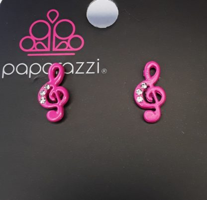 Music Note Post Hot Pink