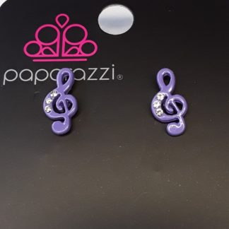 Music Note Post Purple