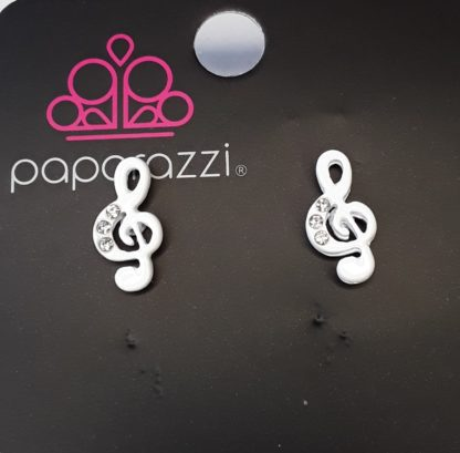 Music Note Post White