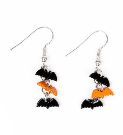 Halloween Bat Black And Orange